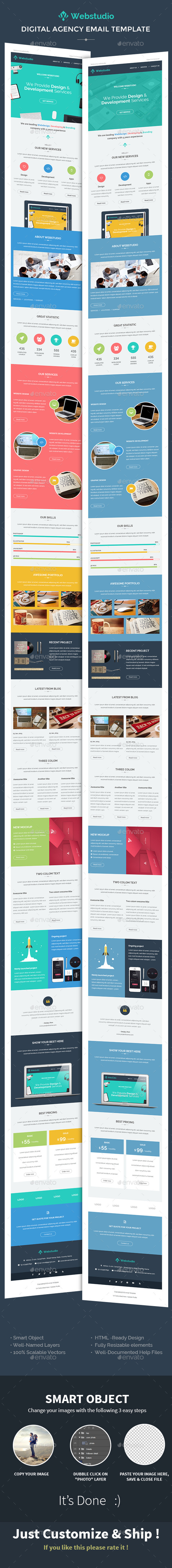 GraphicRiver WebStudio Digital Agency E-newsletter PSD Template 10175290