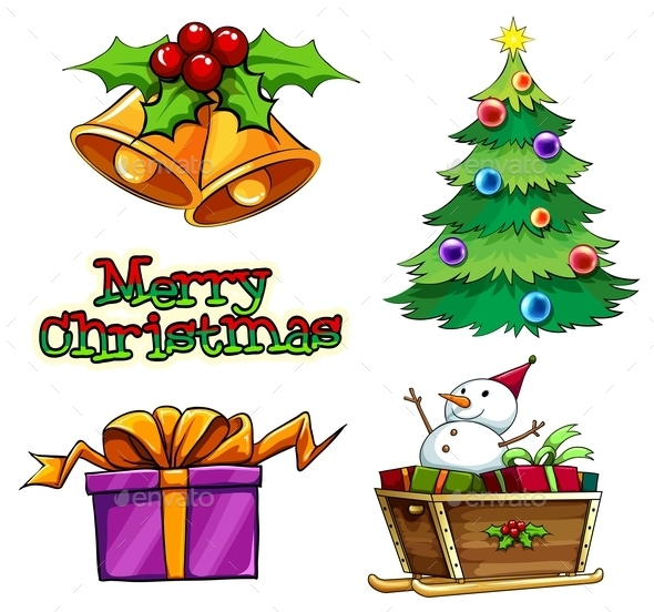GraphicRiver Group of Christmas Decors 10175390
