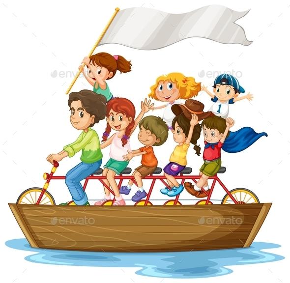 GraphicRiver Children on Boat 10175489