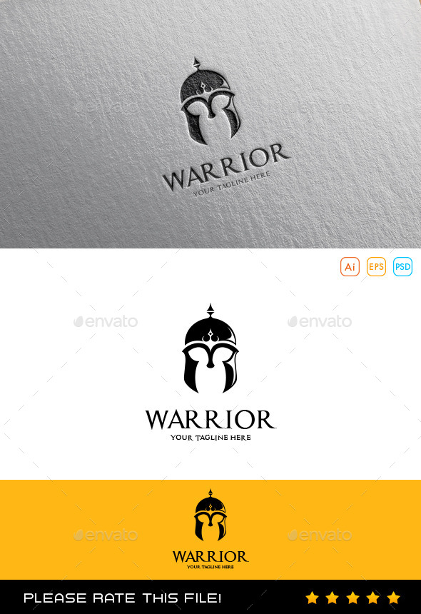 GraphicRiver Warrior Helmet Logo 10175523