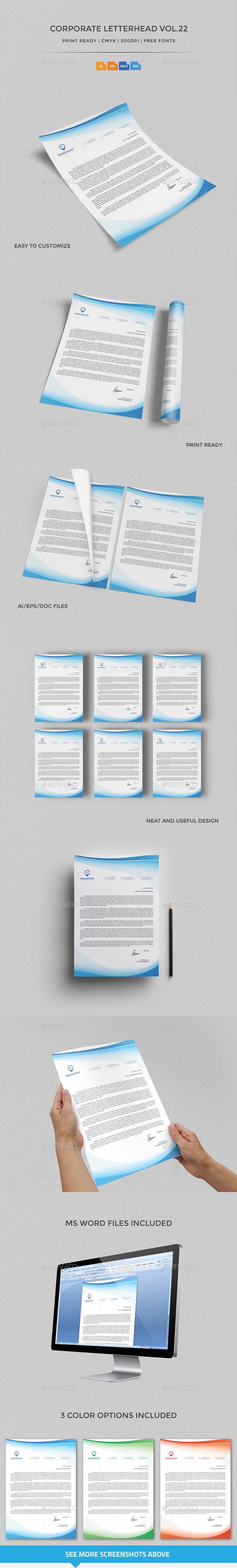 GraphicRiver Corporate Letterhead vol.22 with MS Word DOC DOCX 10175560