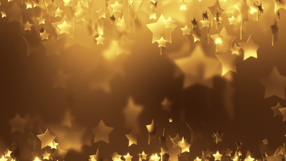 Gold Star Particle Background