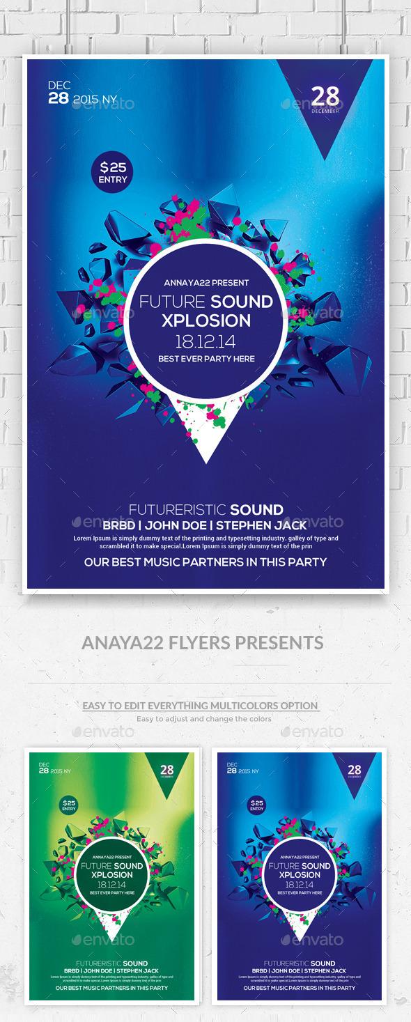 GraphicRiver Futuristic Flyer Template 10175588