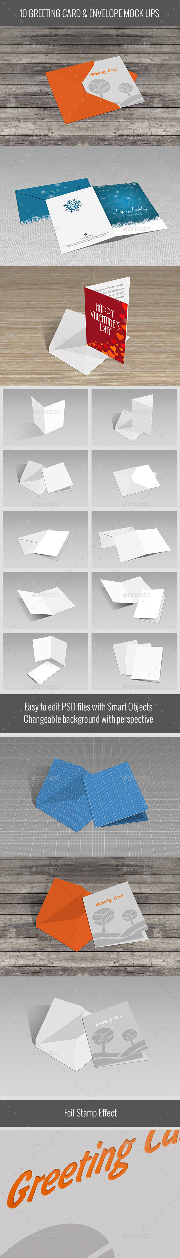 GraphicRiver Greeting Card & Envelope Mock Ups 10175589