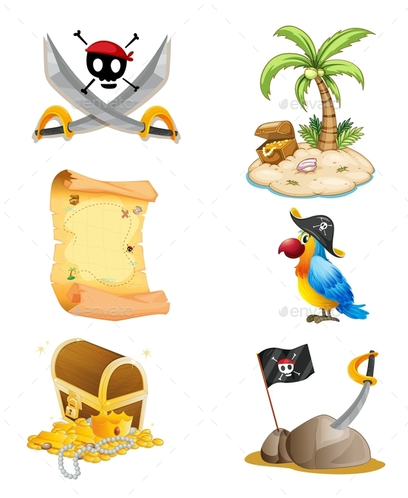 GraphicRiver Pirate Things 10175680