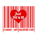 Happy Valentines Day barcode - PhotoDune Item for Sale