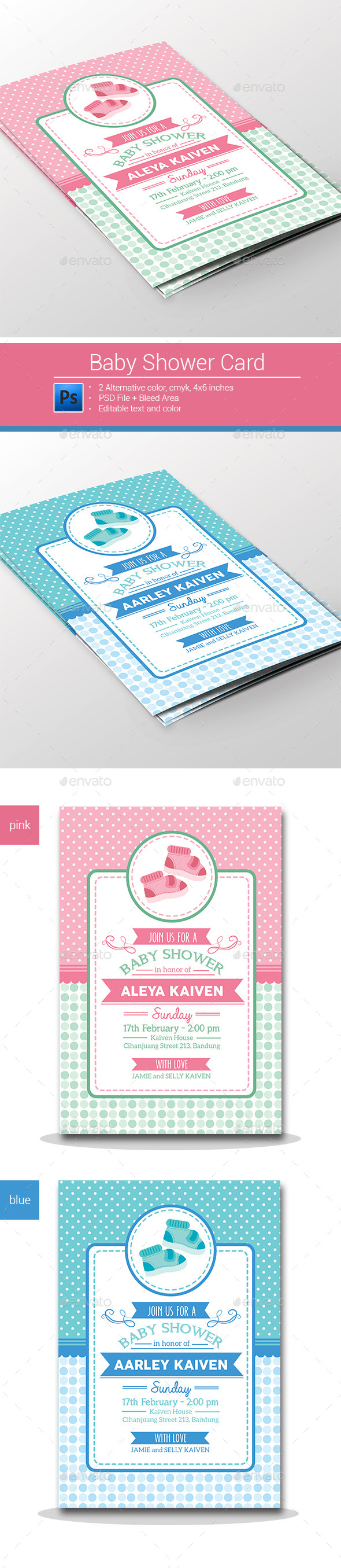 GraphicRiver Baby Shower Invitation 10175784