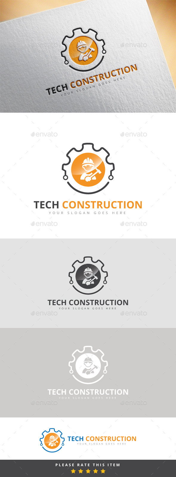 GraphicRiver Tech Construction Logo 10175938