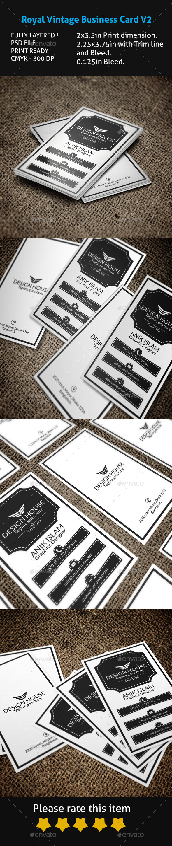 GraphicRiver Royal Vintage Business Card V2 10176476
