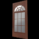 Door nr.02 (glass panels + fan 2 arch grille; uv t - 3DOcean Item for Sale