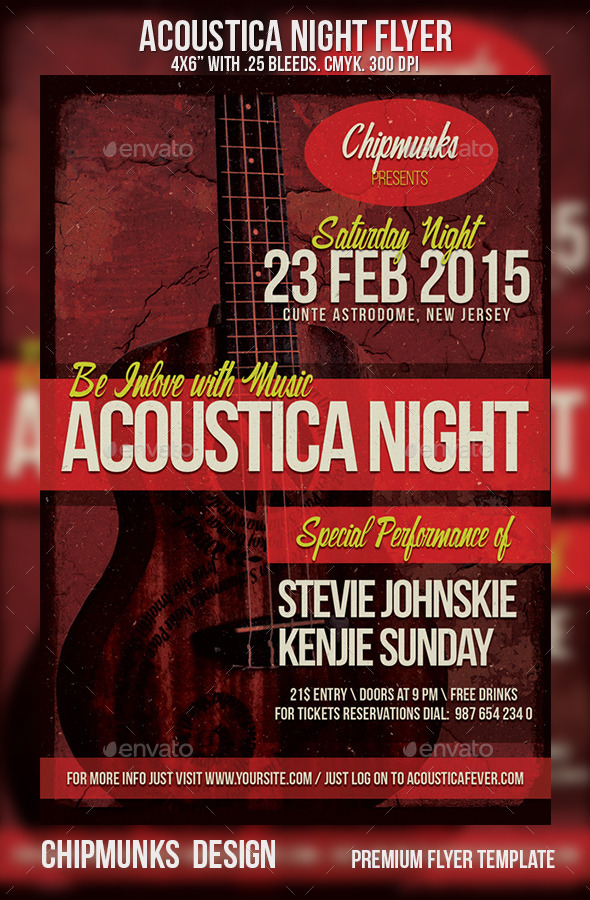 GraphicRiver Acoustica Night Flyer 10178200