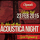 Acoustica Night Flyer - GraphicRiver Item for Sale