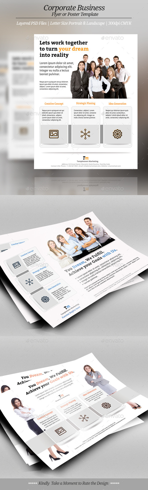 GraphicRiver Corporate or Business Flyer Templates 10178491