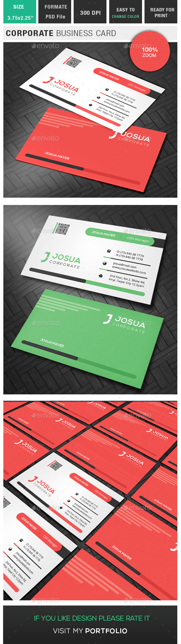 GraphicRiver Corporate Business Card 10179008