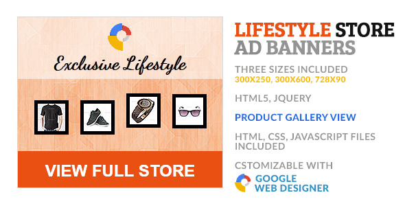 CodeCanyon Lifestyle Product Store GWD HTML5 Ad Banner 10179030