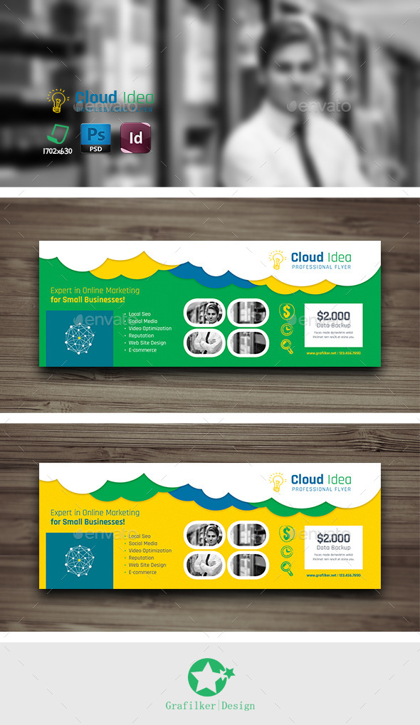 GraphicRiver Cloud Idea Cover Templates 10179064
