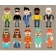 Set of Flat Men in Different Professions  - GraphicRiver Item for Sale