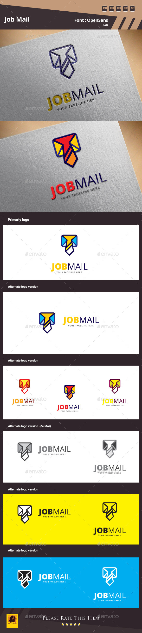 GraphicRiver Job Mail Logo Template 10179118
