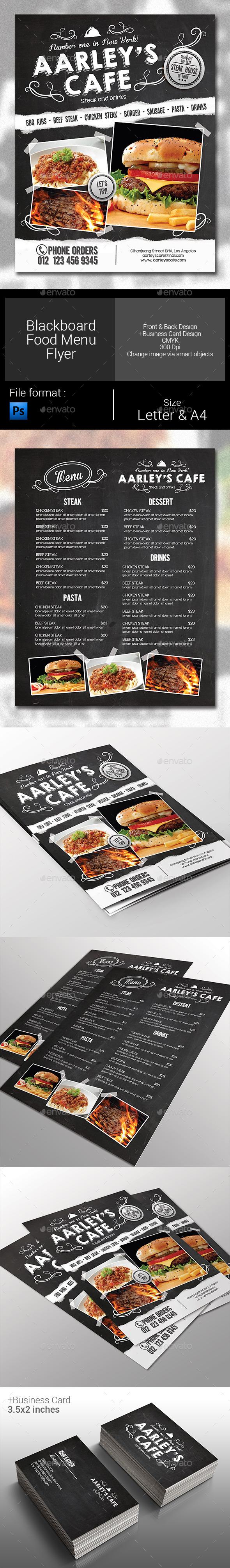 GraphicRiver Blackboard Menu Flyer 10179154
