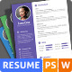 Stylish Flat Resume - GraphicRiver Item for Sale