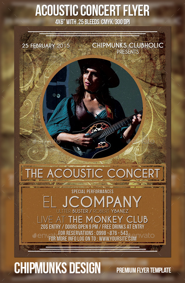 GraphicRiver Acoustic Concert Flyer 10179909