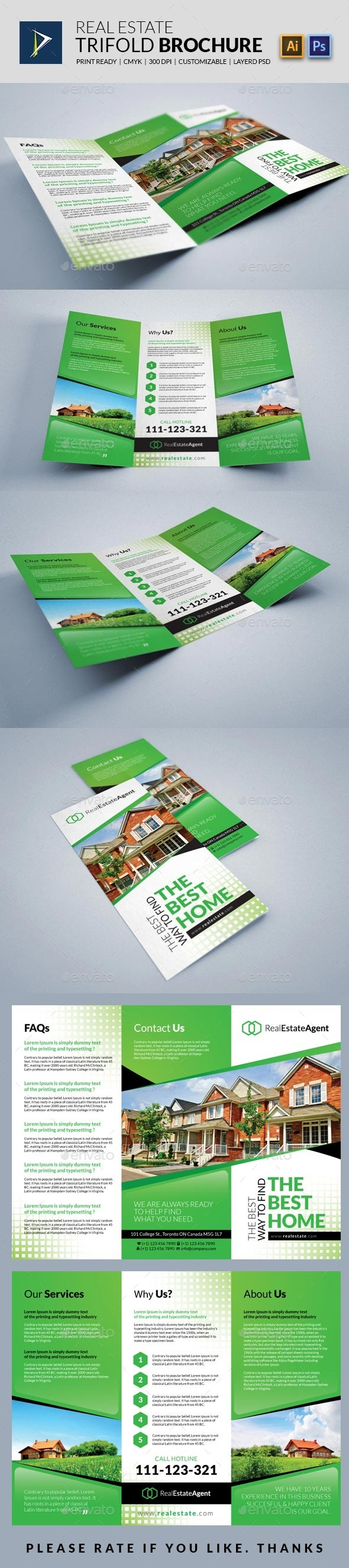 GraphicRiver Real Estate Trifold Brochure 10179921