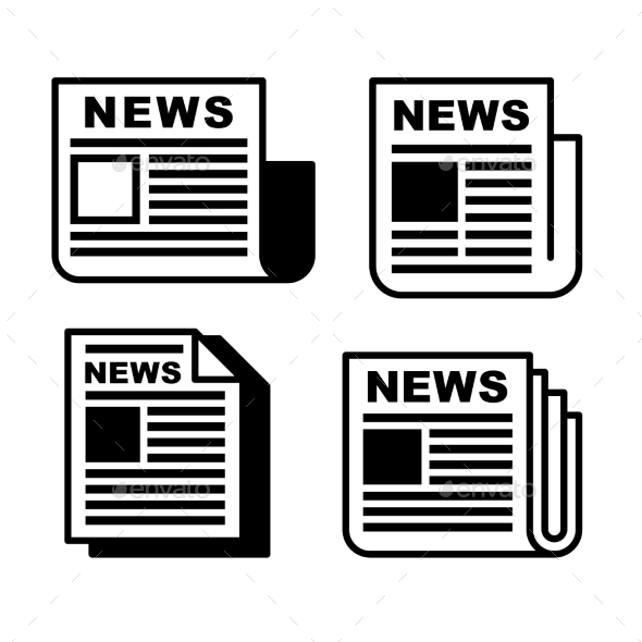 GraphicRiver Newspaper Icons Set 10180074