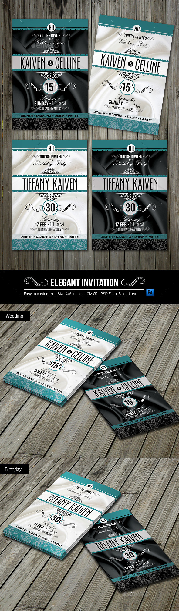 GraphicRiver Elegant Invitation 10180087
