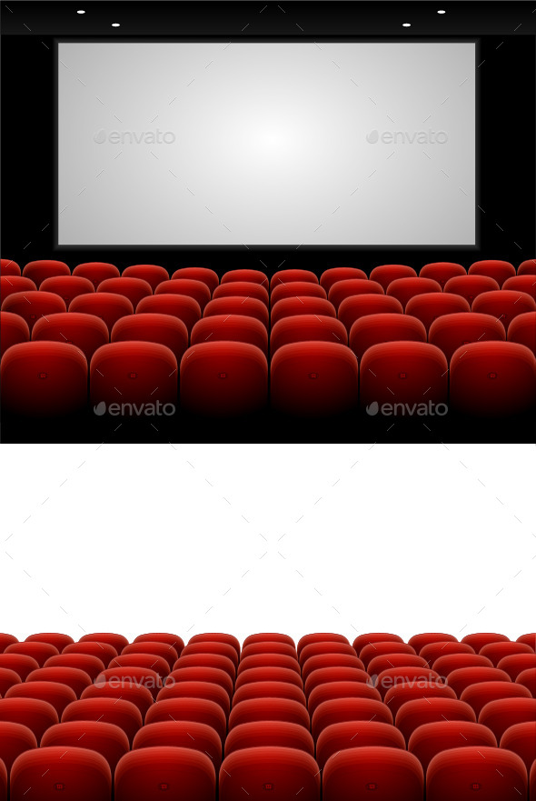 GraphicRiver Red Cinema Theatre Seats 10180114