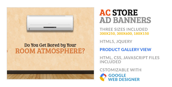 CodeCanyon Air Cooler AC Store GWD HTML5 Ad Banner 10180167