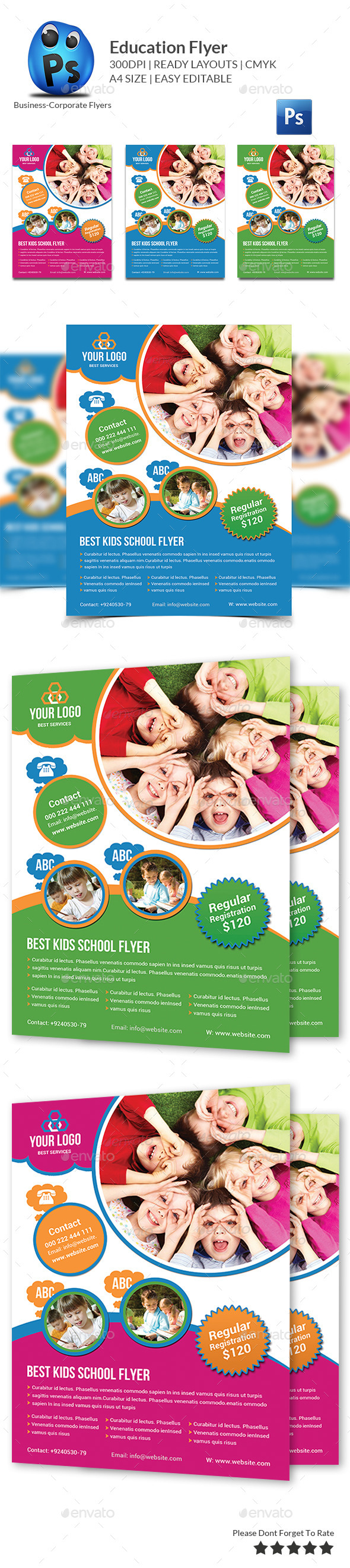 GraphicRiver School Education Flyer Template 10180759