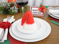 Christmas hat on a plate