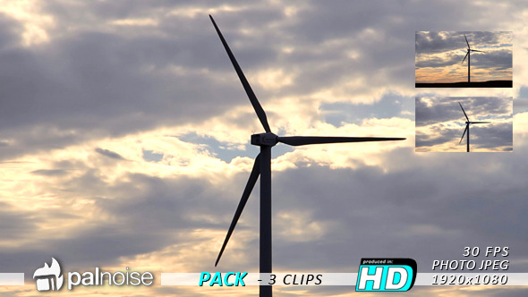 Wind Power Sunset 3-Pack