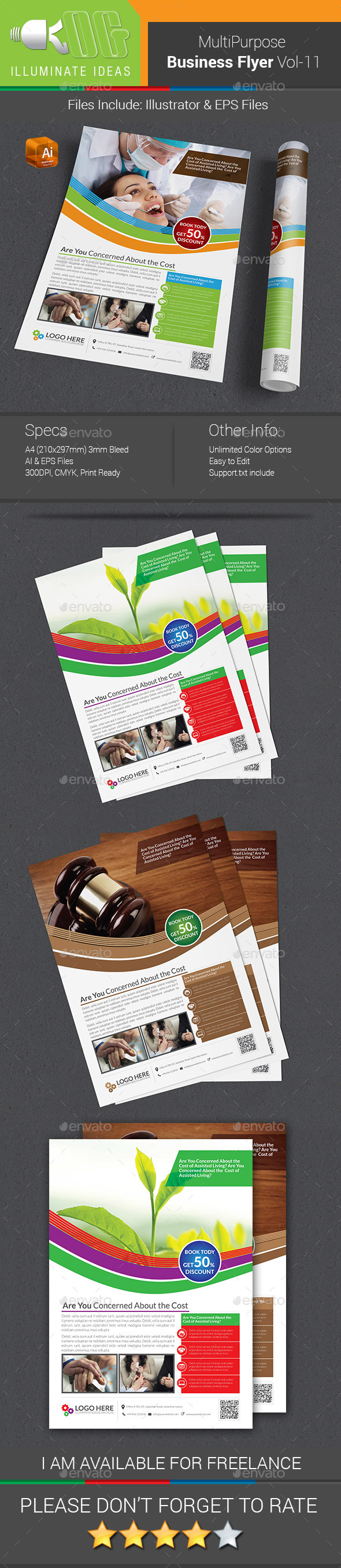 GraphicRiver Multipurpose Business Flyer Template Vol-11 10143598