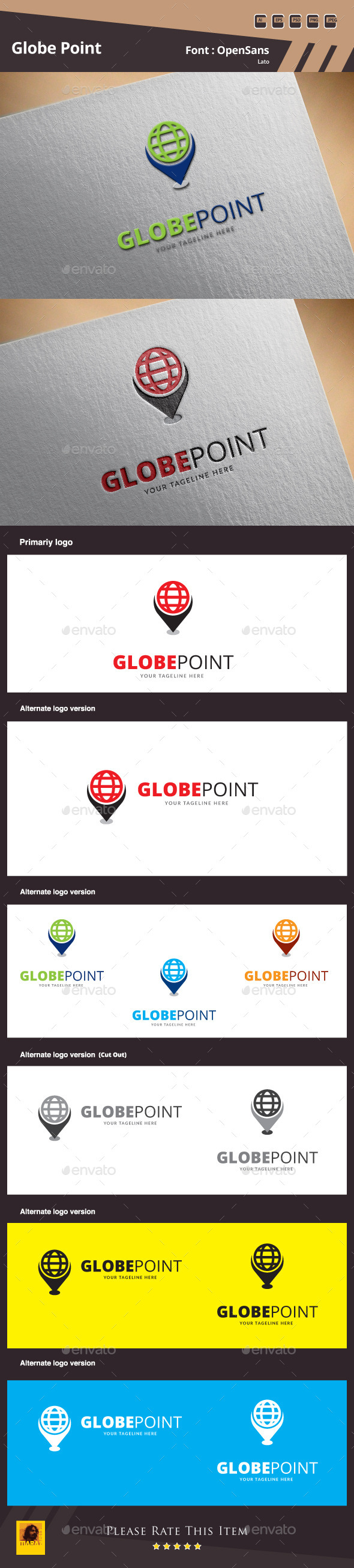 GraphicRiver Globe Point Logo Template 10181175