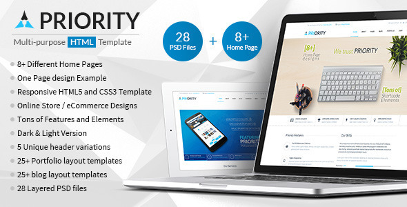 ThemeForest Priority Multipurpose HTML5 Template 10181387