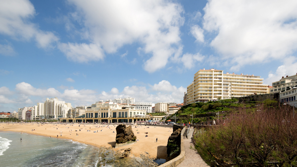 Biarritz France City Surfers Sea 2