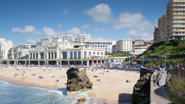 Biarritz France City Surfers Sea 3