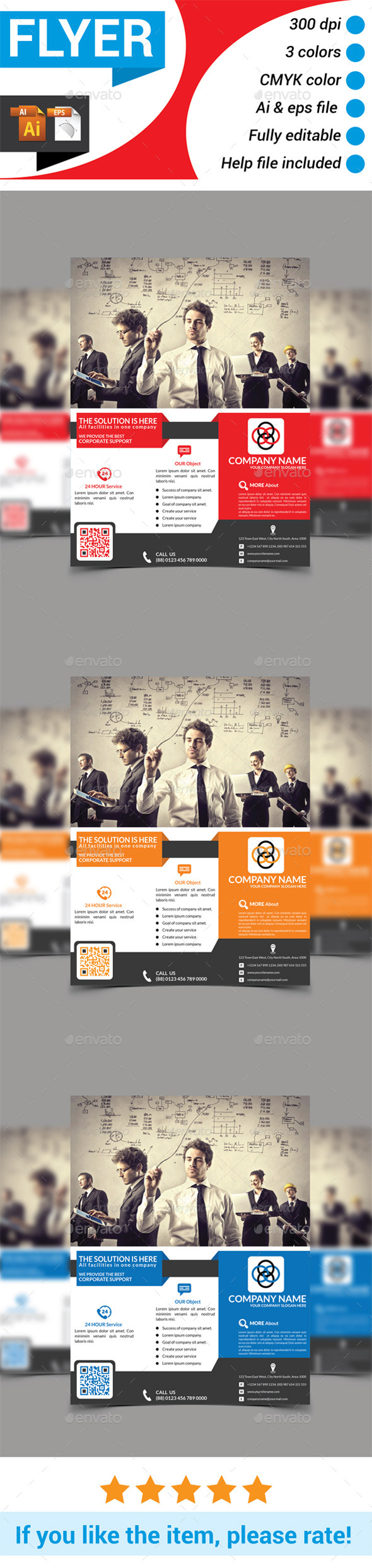 GraphicRiver Multiperpose Corporate Business Flyer 10182068