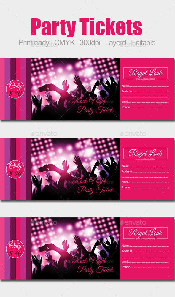 GraphicRiver Concert Pass Party Ticket 10182093