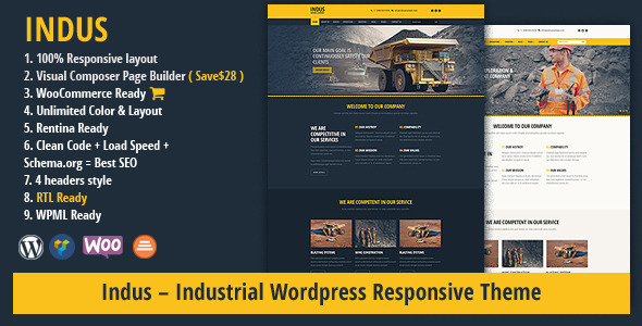 INDUS Contruction Business WordPress Theme