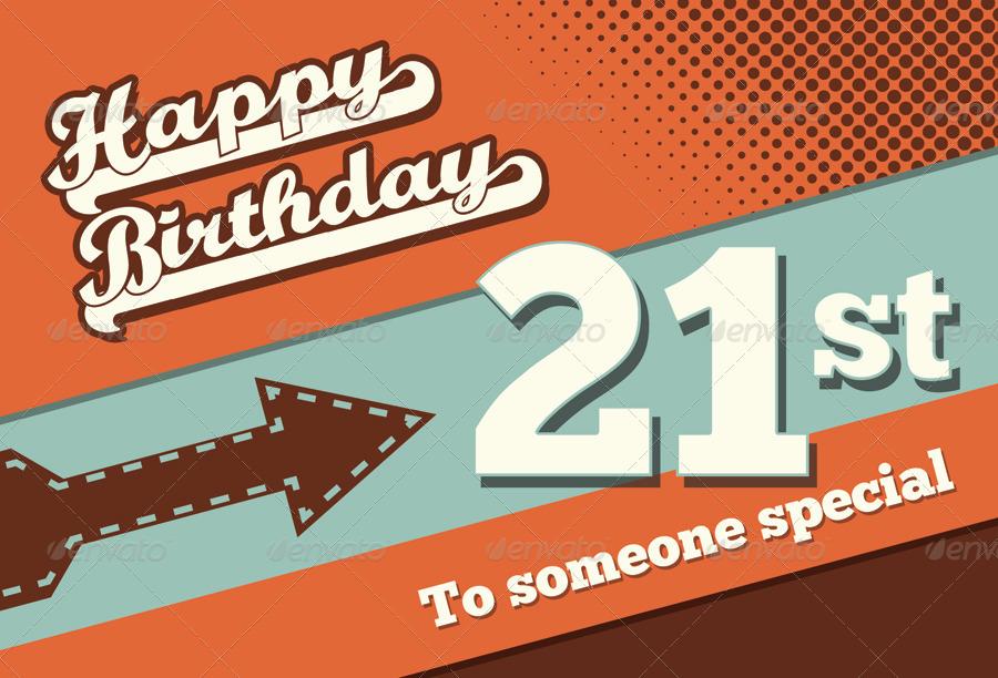 Happy Birthday Retro Images Retro Happy Birthday Card v1