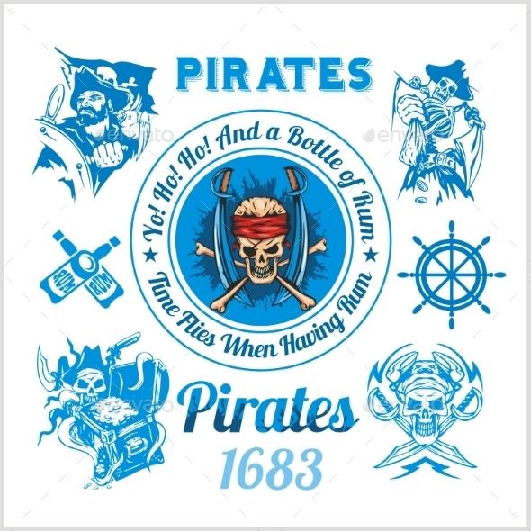 GraphicRiver Pirate Themed Design Elements 10182244