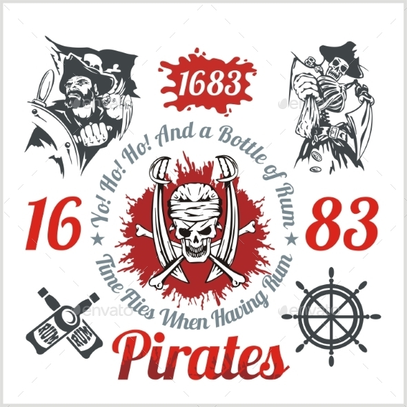 GraphicRiver Pirate Themed Design Elements 10182245