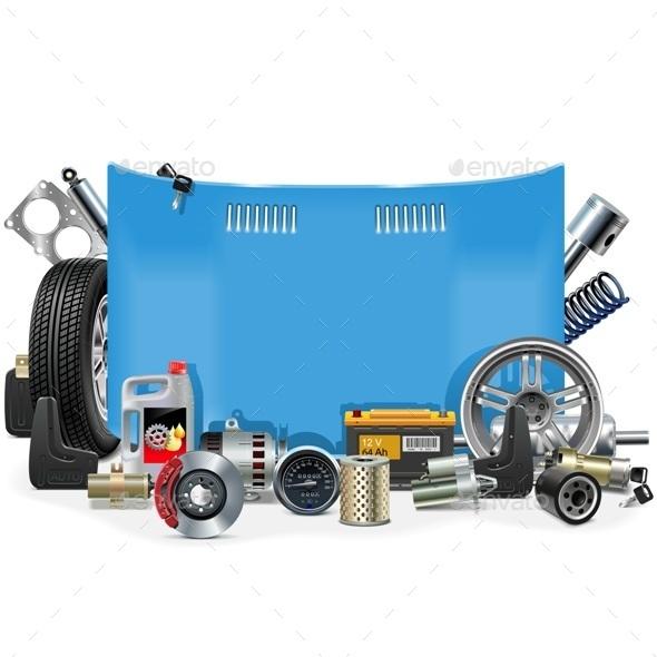 GraphicRiver Car Spares Frame 10182269