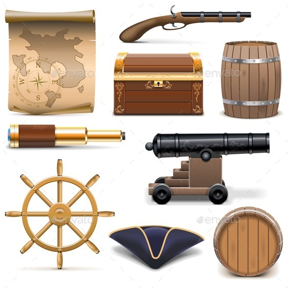 GraphicRiver Vector Pirate Icons 10182275