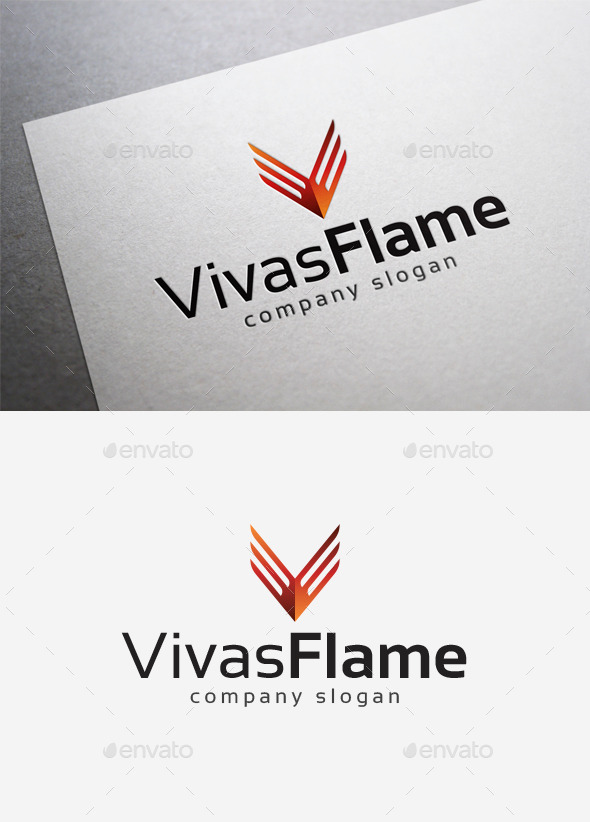 GraphicRiver Vivas Flame Logo 10182286