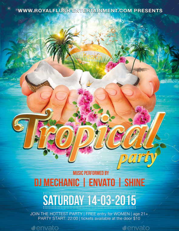GraphicRiver Tropical Party 10182314