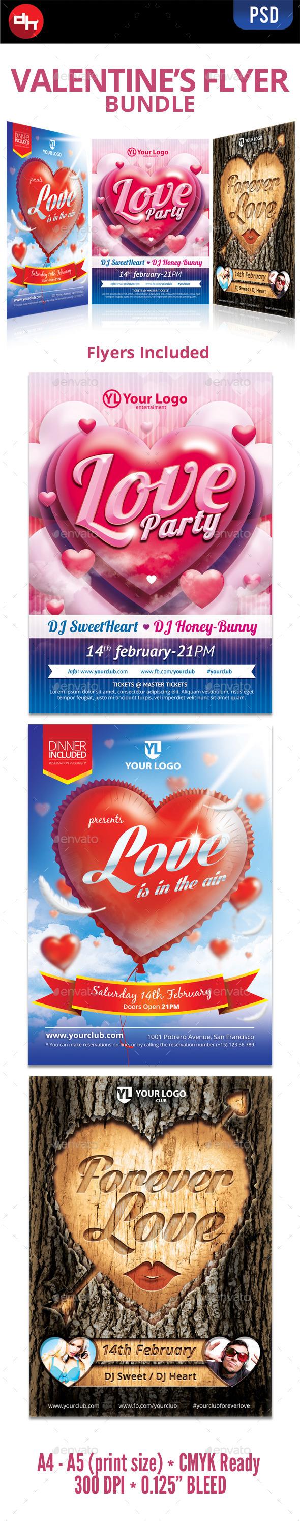 GraphicRiver Valentine s Flyer Bundle 10182316