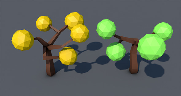 Low Poly Tree - 2 - 3DOcean Item for Sale